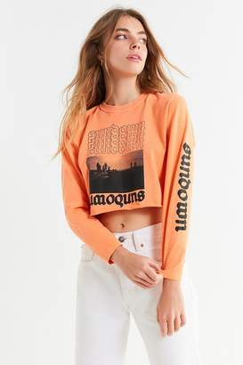 Urban Outfitters Sundown Cropped Long Sleeve Tee