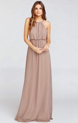 Show Me Your Mumu Amanda Maxi Dress ~ Dune Chiffon