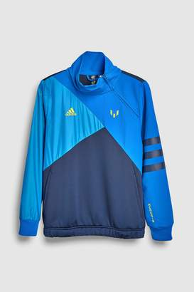 buy popular 5f11d 6b0fc Next Boys adidas Messi BlueNavy 14 Zip