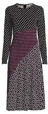 MICHAEL Michael Kors Women's Mixed Print Jersey Midi Dress