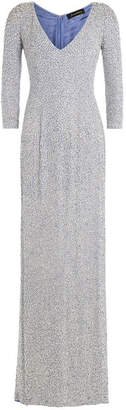 Jenny Packham Embellished Silk Floor Length Gown