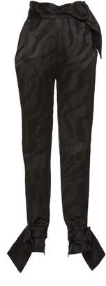 Carmen March Belted Jacquard Pants