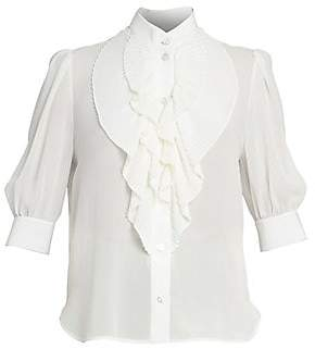 Givenchy Women's Pleated Silk Blouse