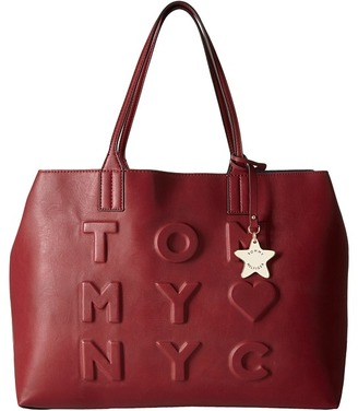Tommy Hilfiger Logo Story Tote Debossed $118 thestylecure.com
