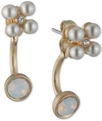 lonna & lilly Stone & Imitation Pearl Jacket Earrings