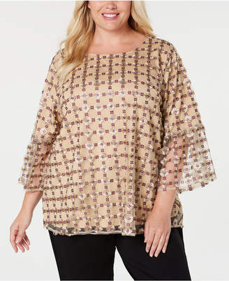 Calvin Klein Plus Size Embroidered Blouse