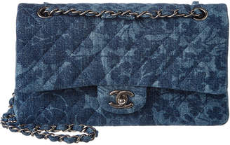 Chanel Limited Edition Blue Quilted Denim Reissue 2.55 Medium Double Flap Bag