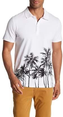 Slate & Stone Popover Palm Tree Short Sleeve Shirt