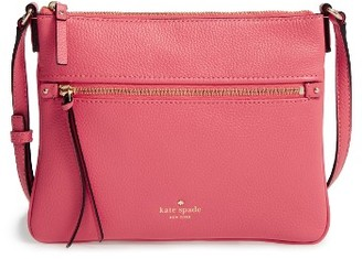 Kate Spade New York 'Cobble Hill - Gabriele' Pebbled Leather Crossbody Bag - Pink $178 thestylecure.com