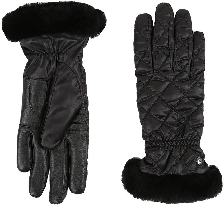 UGGUGG Slim Fit Quilted Fabric Smart Glove