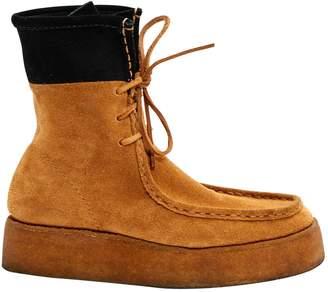 Alexander Wang Camel Suede Boots
