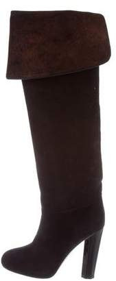 Aperlaï Suede Knee-High Boots