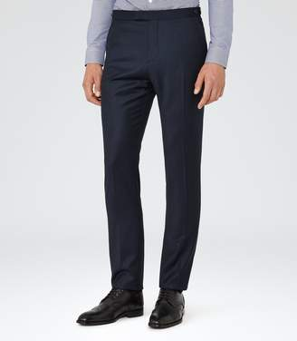Reiss Frazier T - Wool Tailored Trousers in Navy