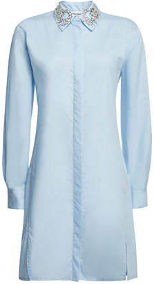 Paco Rabanne Cotton Shirt Dress with Embellishment