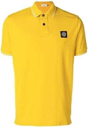 Stone Island pique polo shirt