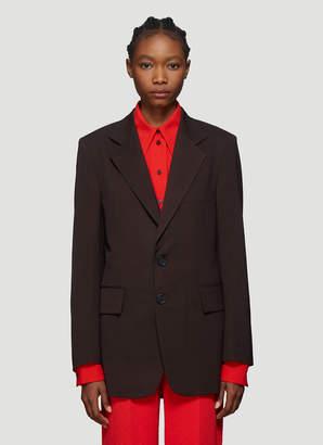 Kwaidan Editions Oversized Suit Blazer Jacket in Brown
