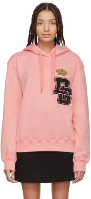 Dolce & Gabbana Pink Crown Patch Hoodie