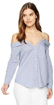 Lucca Couture Women's Reese Cold Choulder Button Up Shirt