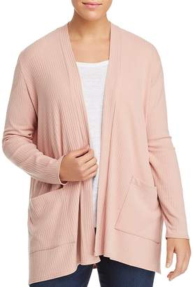 Love Ady Plus Ribbed Open-Front Cardigan - 100% Exclusive