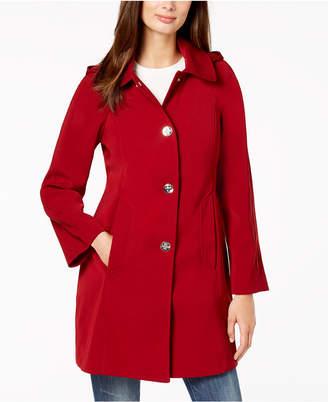 London Fog Petite Hooded Raincoat