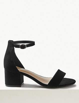 Marks and Spencer Wide Fit Block Heel Two Part Sandals