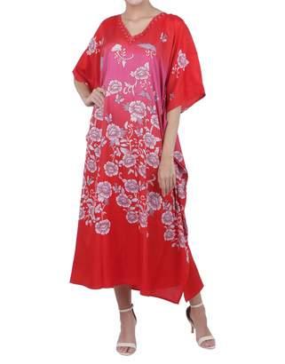 42b79e6cc0a Miss Lavish London Kaftan Tunic Plus Size Beach Cover Up Maxi Dress  Sleepwear Embellished Kimonos