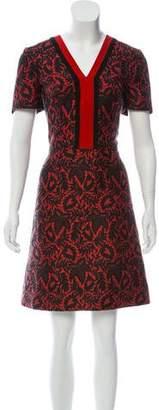 J. Mendel Brocade Knee-Length Dress