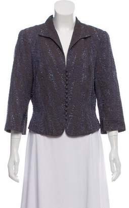 Carmen Marc Valvo Embellished Structured Jacket
