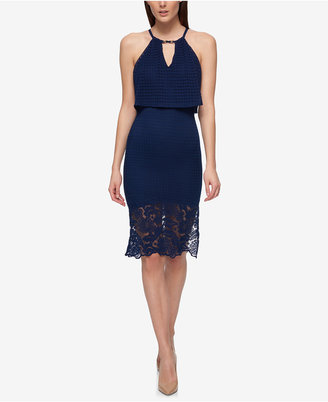 GUESS Lace Popover Sheath Dress $128 thestylecure.com