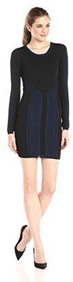 Eleven Paris Women's Diagnol Jacquard Long Sleeve Dress $57.73 thestylecure.com