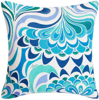 Trina Turk Avalon Lotus Aqua Square Pillow