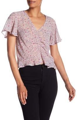 June & Hudson Ruched Front Chiffon Blouse