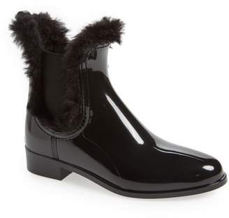 LEMON JELLY Aisha Waterproof Chelsea Boot with Faux Fur Lining