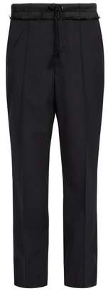 Maison Margiela Contrasting Waistband Wide Leg Trousers - Mens - Black