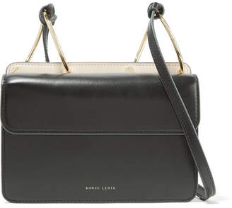 Danse Lente - Mia Smooth And Textured-leather Shoulder Bag - Black