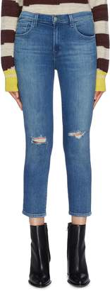 J Brand 'Ruby' ripped cropped cigarette jeans