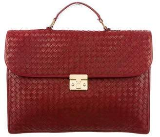 e559396965bf Bottega Veneta Intrecciato Leather Briefcase