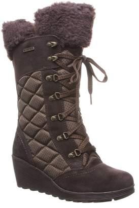 BearPaw FUR Destiny Fur Trimmed Suede & Nylon Winter Boot