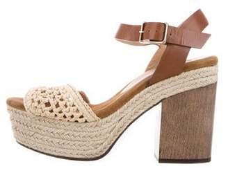 Castaner Leather Platform Sandals