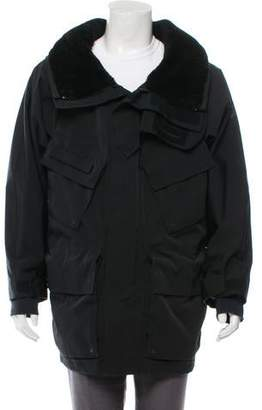 Burberry Shearling-Trimmed Drawstring Parka w/ Tags