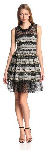 Tracy Reese Women's Triple-Stripe Melange Dress