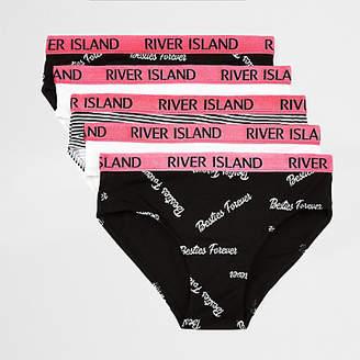 River Island Girls black 'besties' briefs multipack