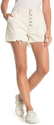 Free People Jessie Carpenter Button Denim Shorts