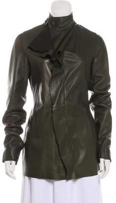 Jean Paul Gaultier Leather Draped Jacket