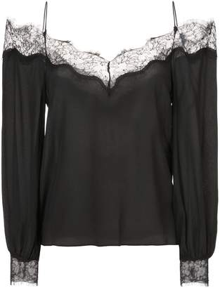 Zac Posen Dora blouse with lace trim