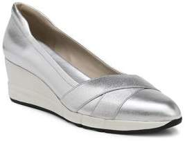 Naturalizer Harlyn Metallic Leather Wedge Pumps