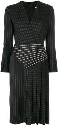 Marco De Vincenzo pleated pinstripe midi dress