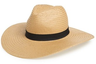 Women's Phase 3 Straw Panama Hat - Brown $29 thestylecure.com