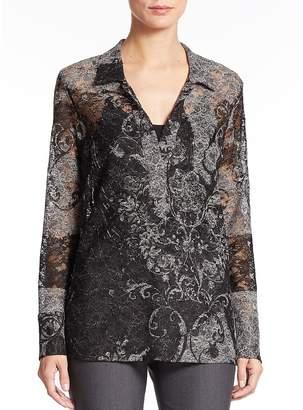 Natori Women's Semi-Sheer Printed Tunic