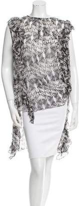 Thomas Wylde Ruffled Silk Top w/ Tags